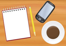 Office table with notepad Royalty Free Stock Photo
