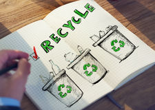 Office Table with Recycling Concept Stock Images