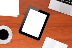 Office Table with Tablet Royalty Free Stock Image