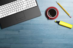 Office table top view Royalty Free Stock Photos