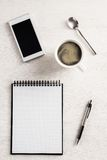 Office table top view Royalty Free Stock Photography