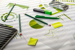 Office table with working stuff Royalty Free Stock Image