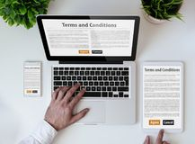 office tabletop terms and conditions royalty free stock photos