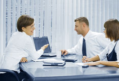 Office talk Stock Photo