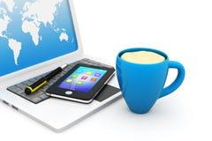 Office tea break. 3d render of Office tea break Royalty Free Stock Photos