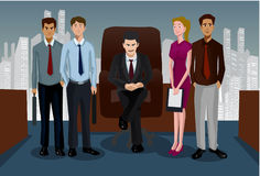 The Office Team Royalty Free Stock Photography
