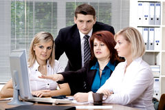 Office team royalty free stock photography