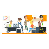 Office Team On Coffee Break Royalty Free Stock Images