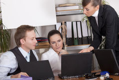 Office team discussion royalty free stock photography