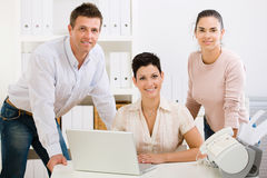 Office team smiling Stock Photography