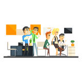 Office Team Working Royalty Free Stock Photography