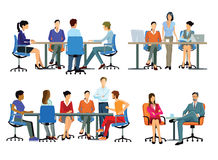 Office teams. An illustration of teams of office workers stock illustration