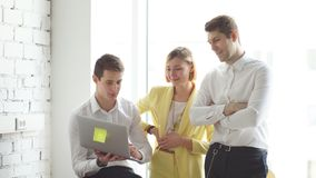 Office and teamwork concept, group of business people having a meeting