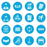 Office teamwork icon blue. Isolated vector illustration Royalty Free Stock Image
