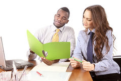 Office teamwork Stock Photography