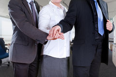 Office teamwork. Office workers in elegant clothes standing togheter Stock Images