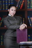 Office teen girl fashion stock image