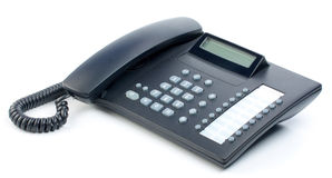 Office telephone. With shade, on a white background Stock Photo