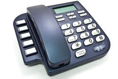 Office telephone without cord. Blue office telephone without cord Stock Photos