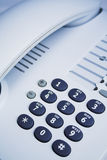 Office telephone detail Royalty Free Stock Photos