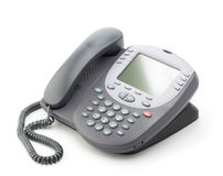 Office telephone with a large screen Stock Photo