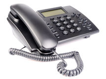 Office telephone over white Royalty Free Stock Photos