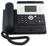 Office telephone set, 6 soft keys Royalty Free Stock Image