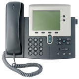 Office telephone set front view Stock Images