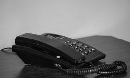 Office Telephone. Telephone at Office Table Top Royalty Free Stock Image