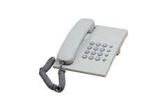 Office telephone. Under the white background Stock Photo