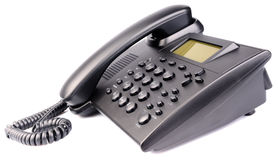 Office telephone on white Royalty Free Stock Images
