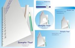 Office templates set Stock Photo