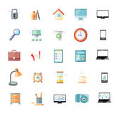 Office and time management icon set Royalty Free Stock Photo