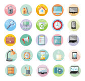 Office and time management icon set Royalty Free Stock Photography