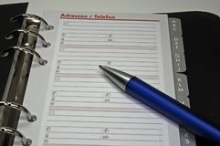 Address book. Office tool - address and contact book Stock Images