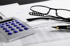 Office tools. A some office tools on desk Stock Photo