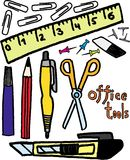 Office tools. Ofice tools on white background. vector image Stock Images