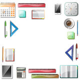 Office tools background. Office tools isolated background frame . Vector illustration Royalty Free Stock Photography