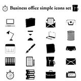 Office tools business 20 simple icon on colorful background. Office tools business 20 simple icon on colorful round background vector illustration
