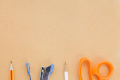 Office tools empty space Royalty Free Stock Image