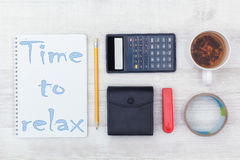 Office tools flat lay Stock Image