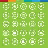 Office tools icon set. Illustration eps10 Royalty Free Stock Photos