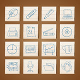 Office tools icons Royalty Free Stock Photo