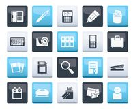 Office tools Icons over color background. Vector icon set 3 royalty free illustration
