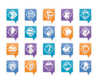 Office tools icons Royalty Free Stock Photography