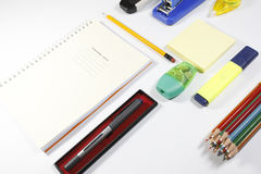 Office tools isolated on white background. Back to school, back to work Stock Image
