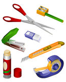 Office Tools. Seven tools for office or home Royalty Free Stock Images