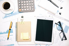Office tools and tablet Stock Images