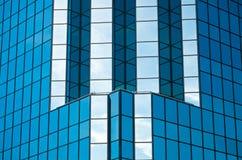 Office Tower Blue Glass Facade Stock Photos