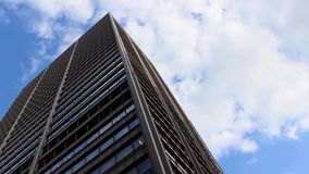 Office Tower With Moving Sky stock video footage